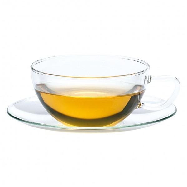 Teecup with plate . JENA . Opus