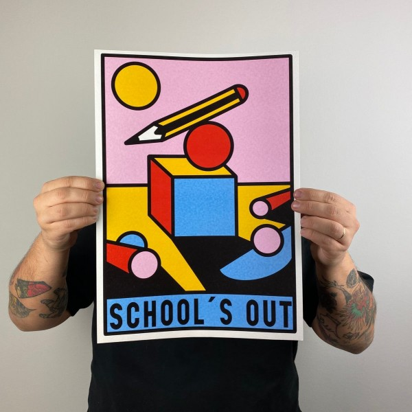 Druck . SCHOOL'S OUT . PRUDEN TATTOO . A3