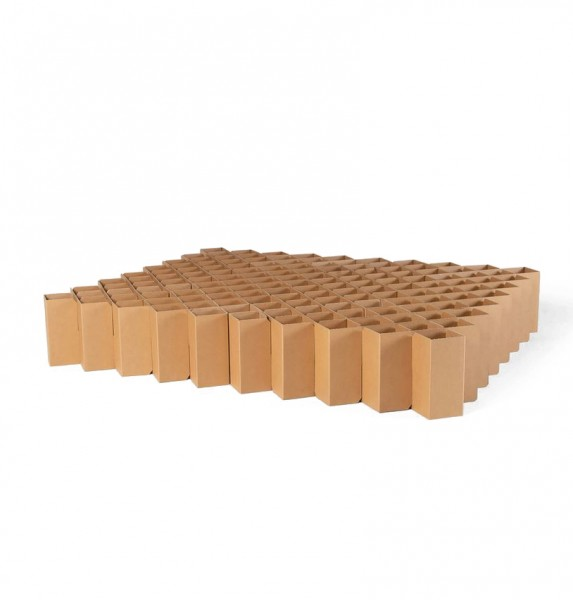 cardboard bed . BED 2.0 . RIAB . m . natural