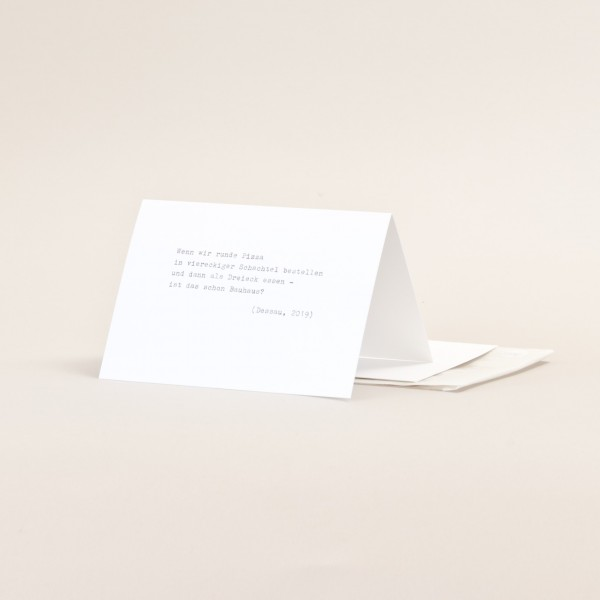 RUNDE PIZZA . TYPE . Folding card
