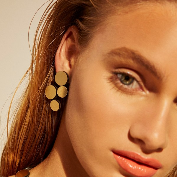 ABSTRACTION . EARRINGS . gold