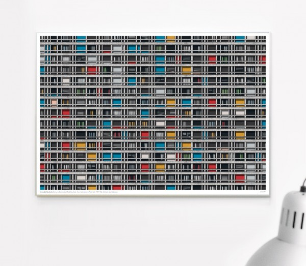 Poster . IMMEUBLE MOUCHOTTE PARIS . A3