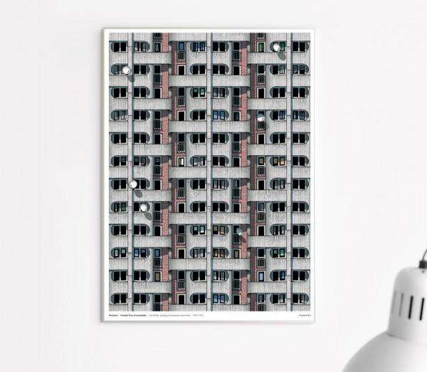 Poster . OSIEDLE PLAC GRUNEWALDZKI (Wroc?aw) . A3