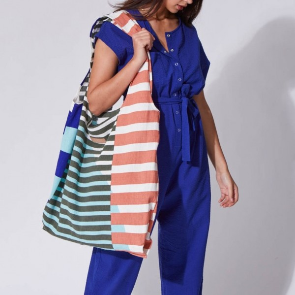 beach bag . SOL . ultra violet