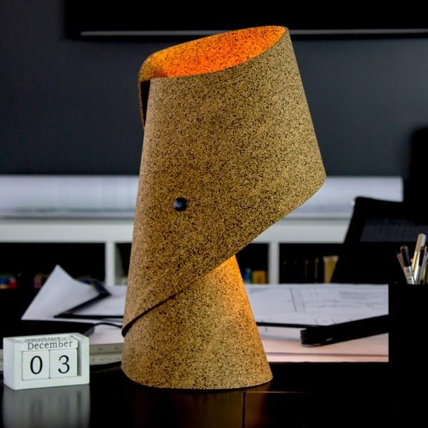 Lampe . MANTU . Kork