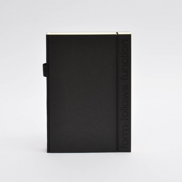 notebook . FORM FOLLOWS FUNCTION . A5 black