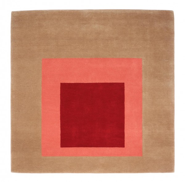 rug . JOSEF ALBERS . SQUARE . brown/red