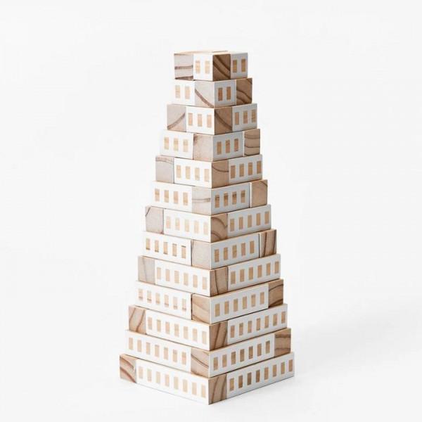 Bauspiel . BLOCKITECTURE TOWER . weiß