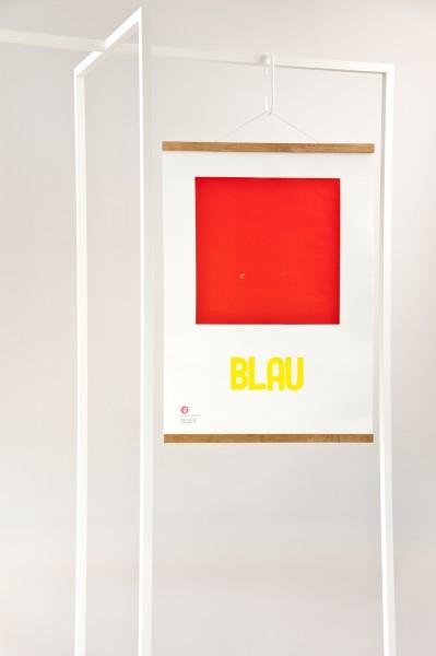 print . GELBBLAUROT . Jakob Wolf ''BLUE''
