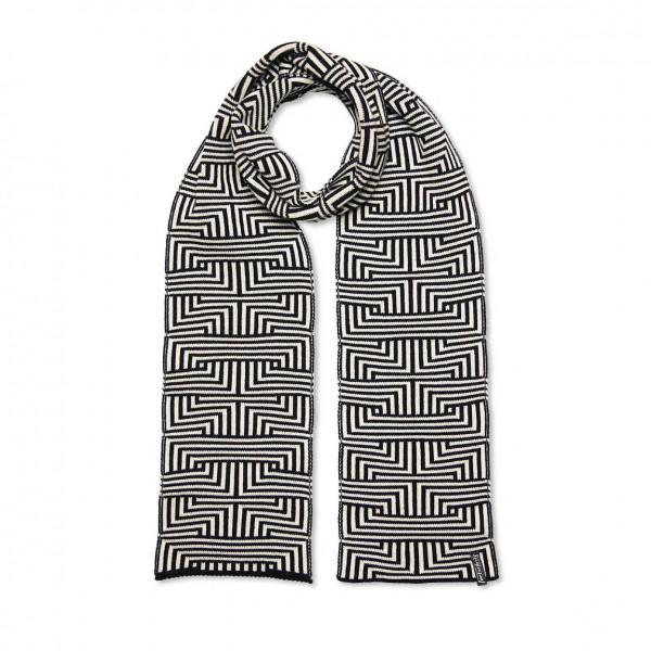 scarf . MEANDER . small . b/w
