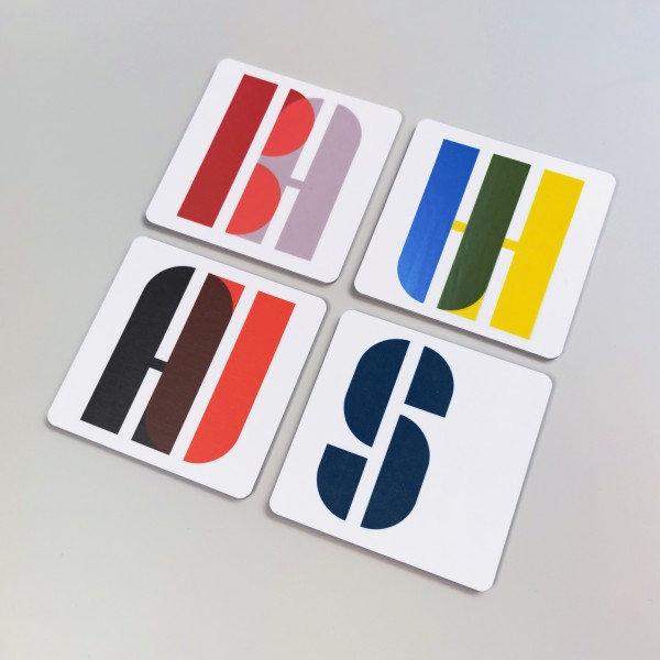 coaster . BAUHAUS . JOSCHMI . colorful