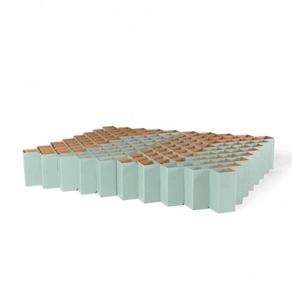 cardboard bed . BED 2.0 . RIAB . m . sage