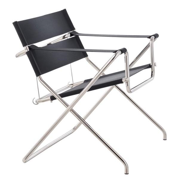 folding armchair . D4 . MARCEL BREUER . black