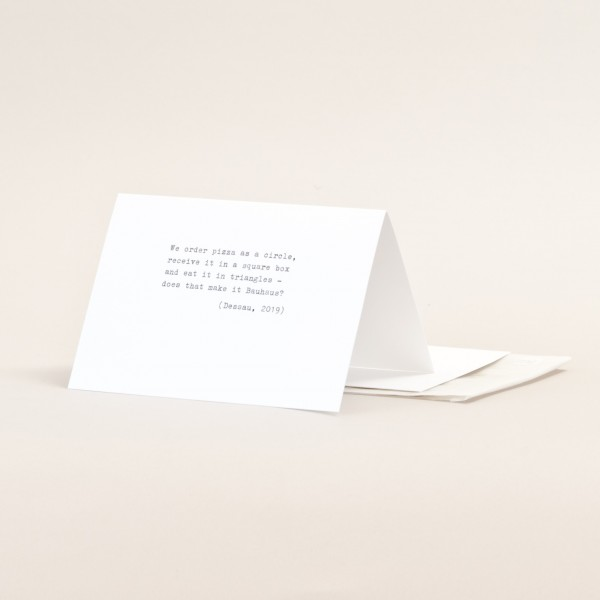 ORDER PIZZA . TYPE . Folding card