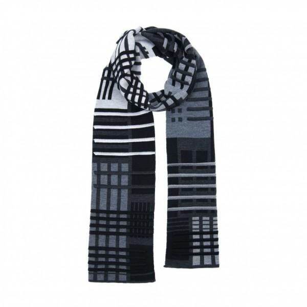 scarf . PARALLEL . VERHAAR . 3D . b/a/g