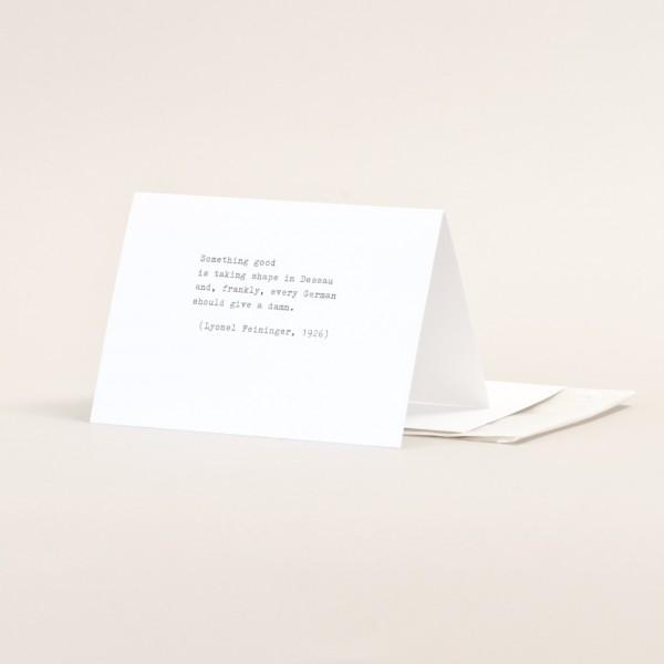SOMETHING GOOD . TYPE . Folding card